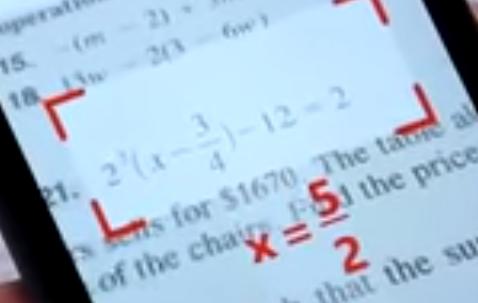 Rezolvarea problemelor de matematica pe telefon