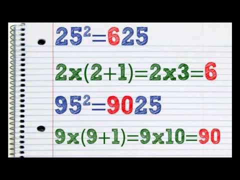 Ridicarea la patrat pentru numere care se termina in cifra 5